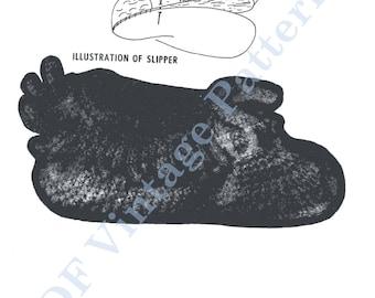 Crocheted Slippers 7077 - PDF Immediate Download Patterns