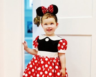 Minnie Mouse Girls Costume for Kids - Red