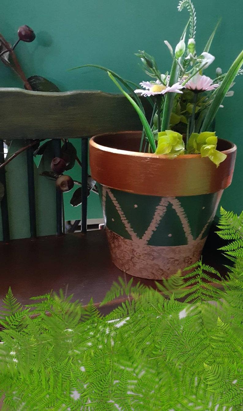 Earth Tone painted pots