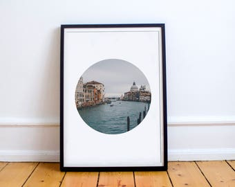 Venice Grand Canal Photo (Grand Canal Photograph, Italy Travel Photography,Minimalist Wall Art Prints,Printable Art,Italy Digital Download)