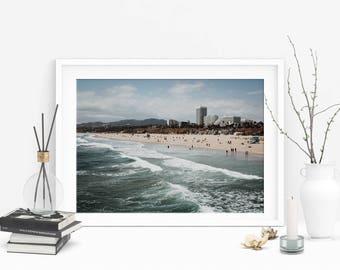 NEW Santa Monica Beach (California,West Coast Adventure Photo,Travel Photos,Ocean Print,Printable Wall Art,Digital Print,Digital Download