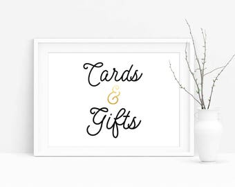 Cards and Gifts Sign, Printable Wedding Gift Table Sign, 8x10 5x7 Cards and Gifts Sign,Instant Download Wedding Sign,Wedding decor,Reception