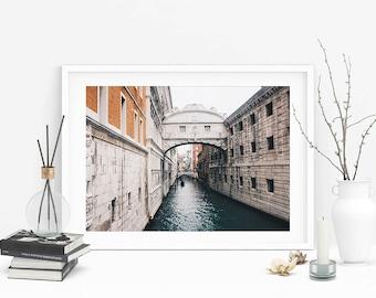 Venice Bridge of Sighs Photograph (Grand Canal,Travel Photography,Wall Art Prints,Printable Art,Digital Prints,Italy,Digital Download)
