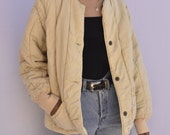 vintage quilted military bomber jacket