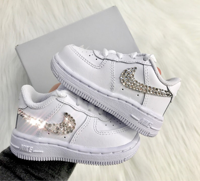Baby Bling Nike Air Force 1 Low With Swarovski Diamond  3f76d89a3f1c
