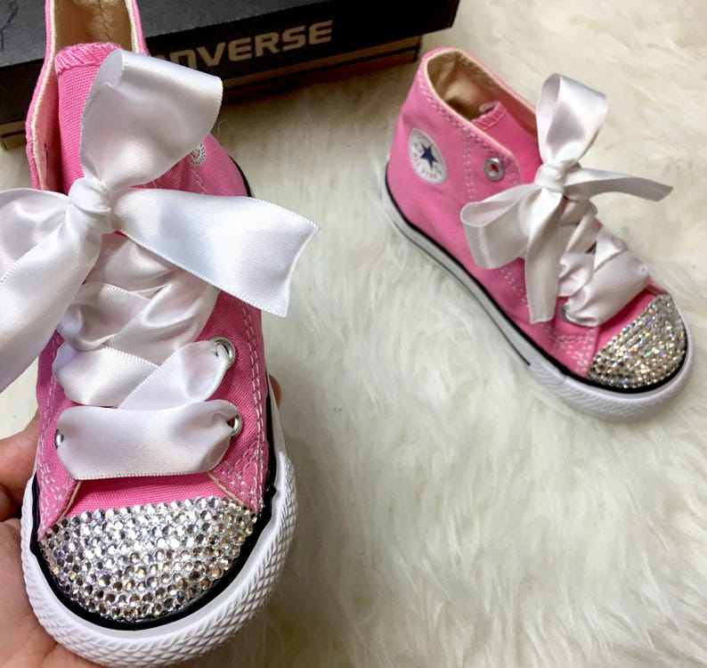 ce70d375f92d Baby Bling Converse Customized With Swarovski Diamond Crystals