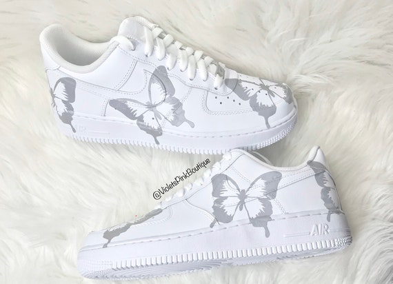 air force 1 donna con farfalle