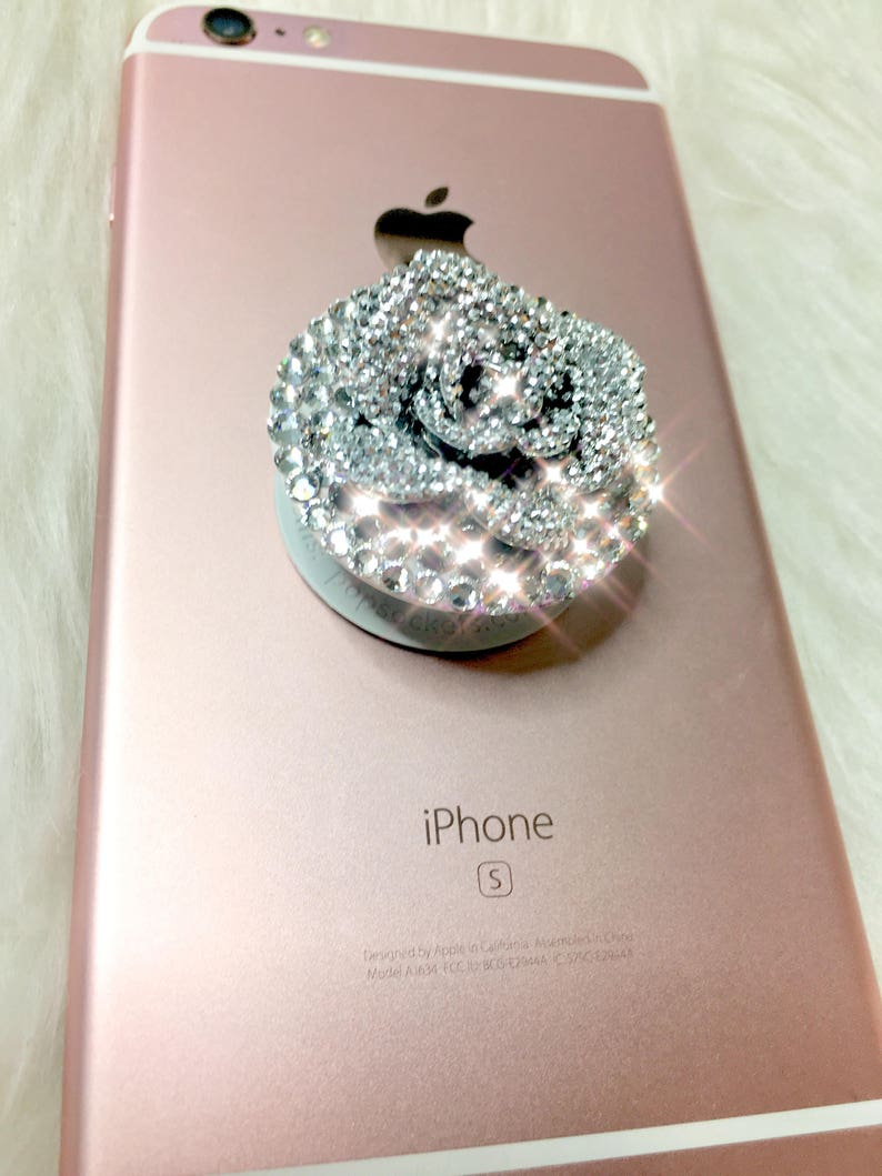 Swarovski Crystal Bling PopSocket Cell Phone Grip Bling  562125f53b