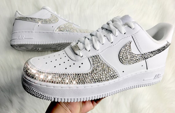 Men s Swarovski Nike Air Force 1 With Swarovski Crystals  dbfa686e425b