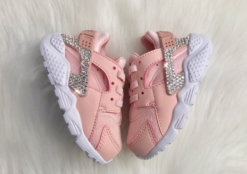 finest selection ac867 d4df4 Bling Swarovski Nike Huarache Pink With Swarovski Crystals Girls' Preschool
