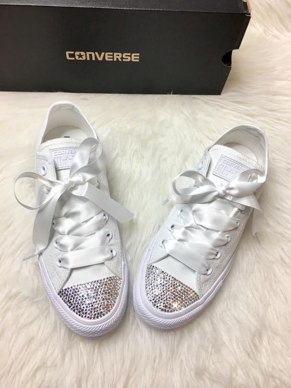 b8955be0446e Swarovski Crystal CONVERSE Bling Women s Wedding crystal