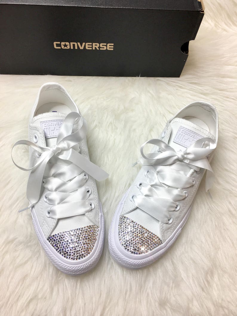 9c29d49ee152 Swarovski Crystal CONVERSE Bling Women s Wedding crystal