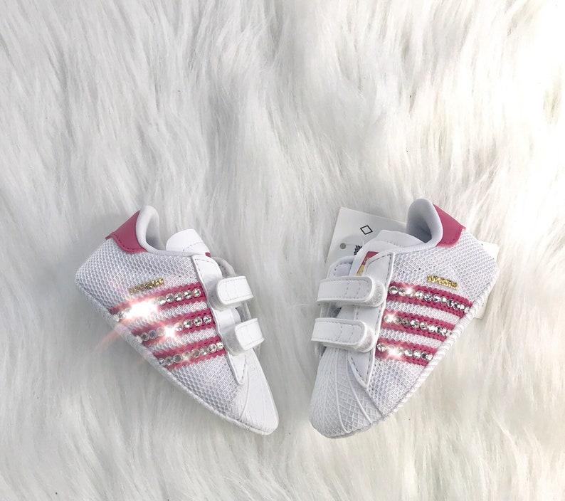 Bling Adidas Superstar Originales con Swarovski Cristales Baby Crib Shoes