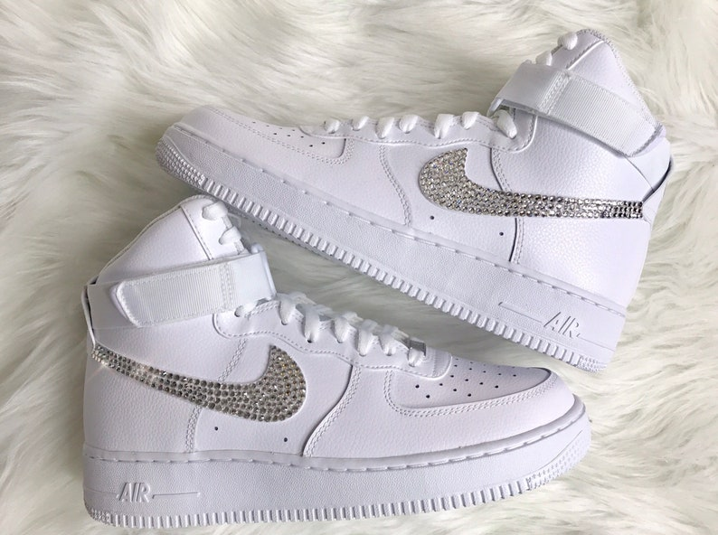 Men s Swarovski Nike Air Force 1 High Top With Swarovski  f1c8e4005e