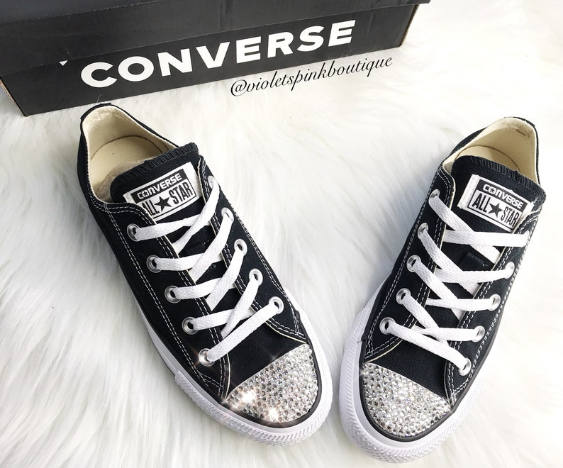 506b9bf4877ad Swarovski Crystal CONVERSE Chuck Taylor All Starts Women's crystal wedding  sneakers