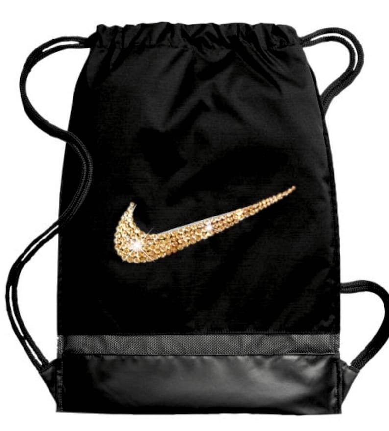 2e98cdfb11 Swarovski Nike Gym Bag Bling Out With Diamond Crystals   Etsy
