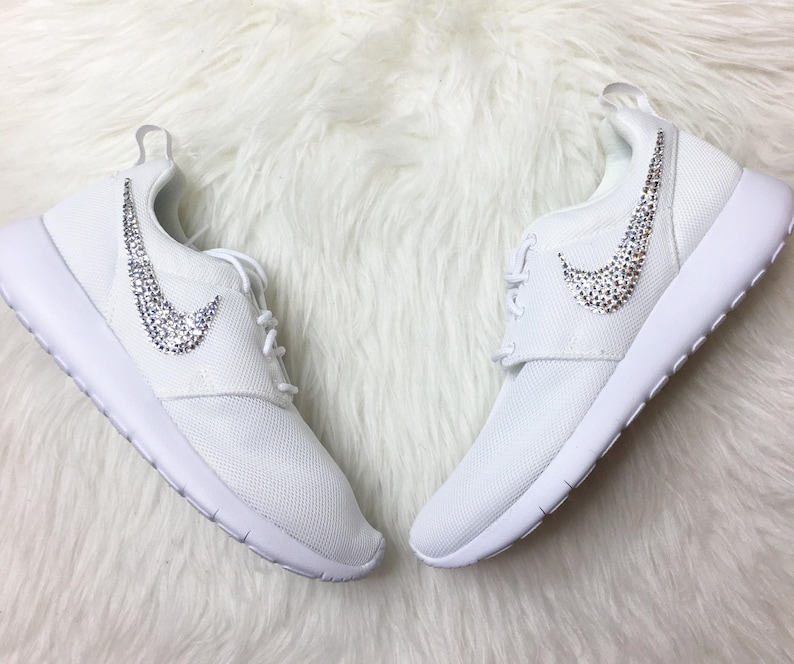 d1b24931a2a99 Bling Nike Roshe With Swarovski Crystals wedding bride shoes