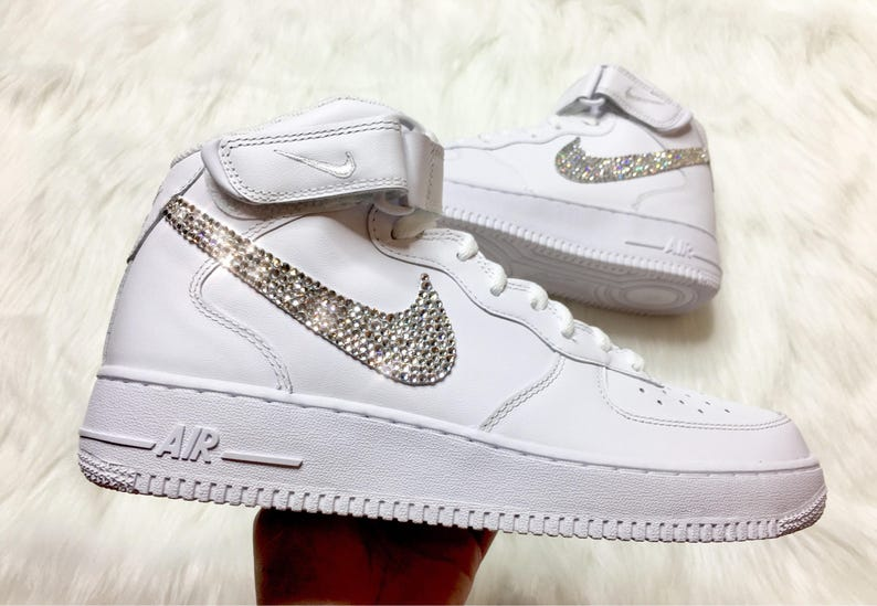 Men s Swarovski Nike Air Force 1 With Swarovski Diamond  fc39b28c70eb