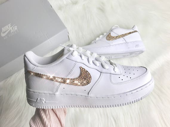 With Bling And Toddlers Diamond Toddler Low Kids Air Nikes Big Swarovski Crystals Baby Force Customized Kicks For To 1 Nike 0Pk8XnwO