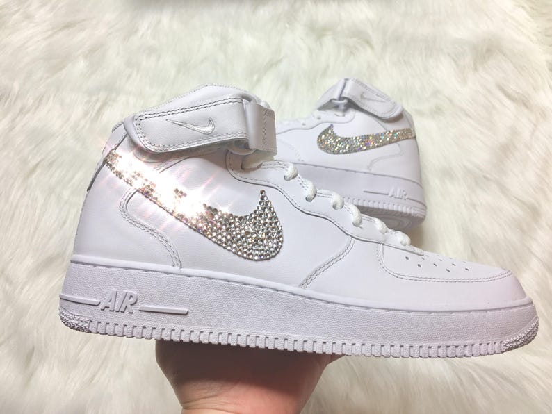 Men s Swarovski Nike Air Force 1 With Swarovski Diamond  95dfa372b