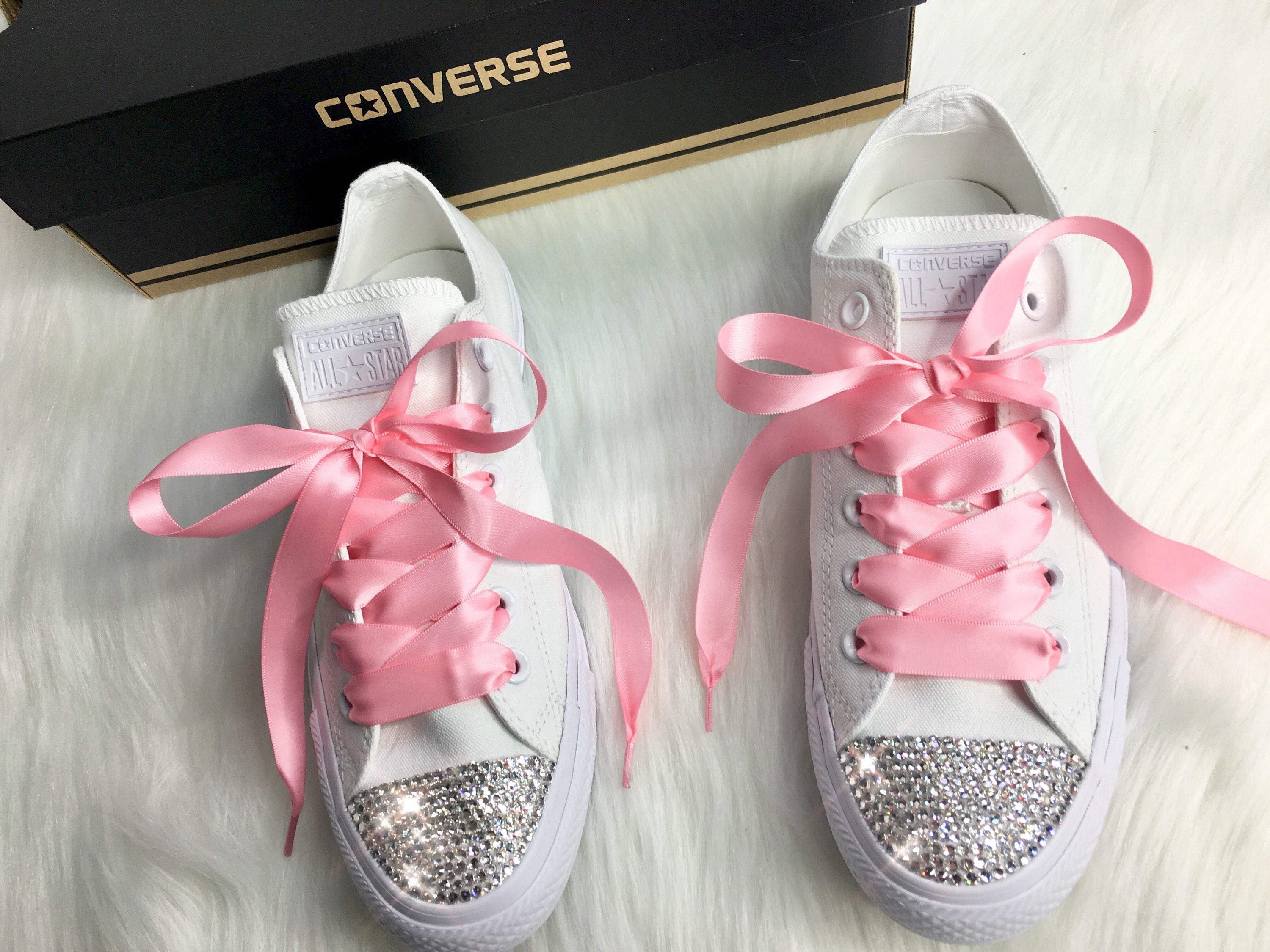 6acee1f9e65961 Bling Swarovski Crystal CONVERSE Bling Women s Wedding