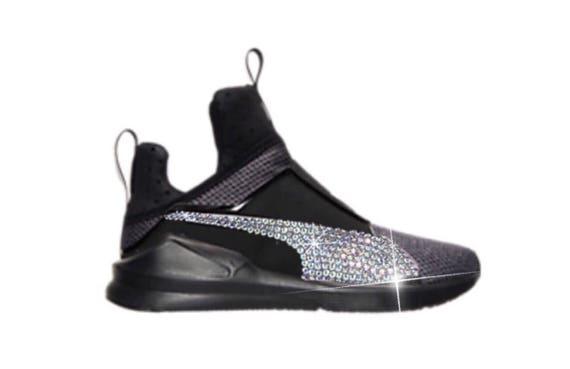 Kylie Jenner Bling Custom Women s Puma Fierce In Black  ce3a40d342