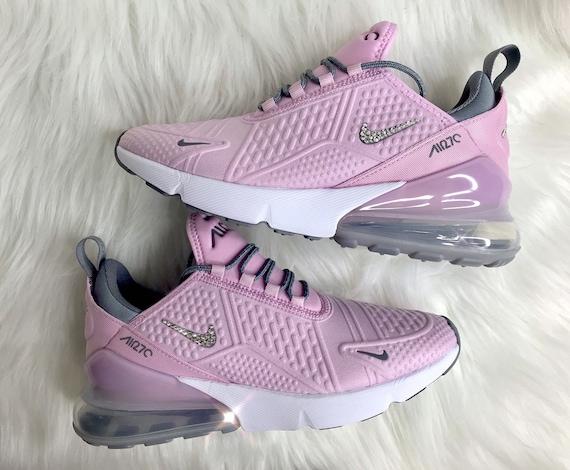 Swarovski Pink Nike Air Max 270 Bling Women s Girl s  05ffe15017bf