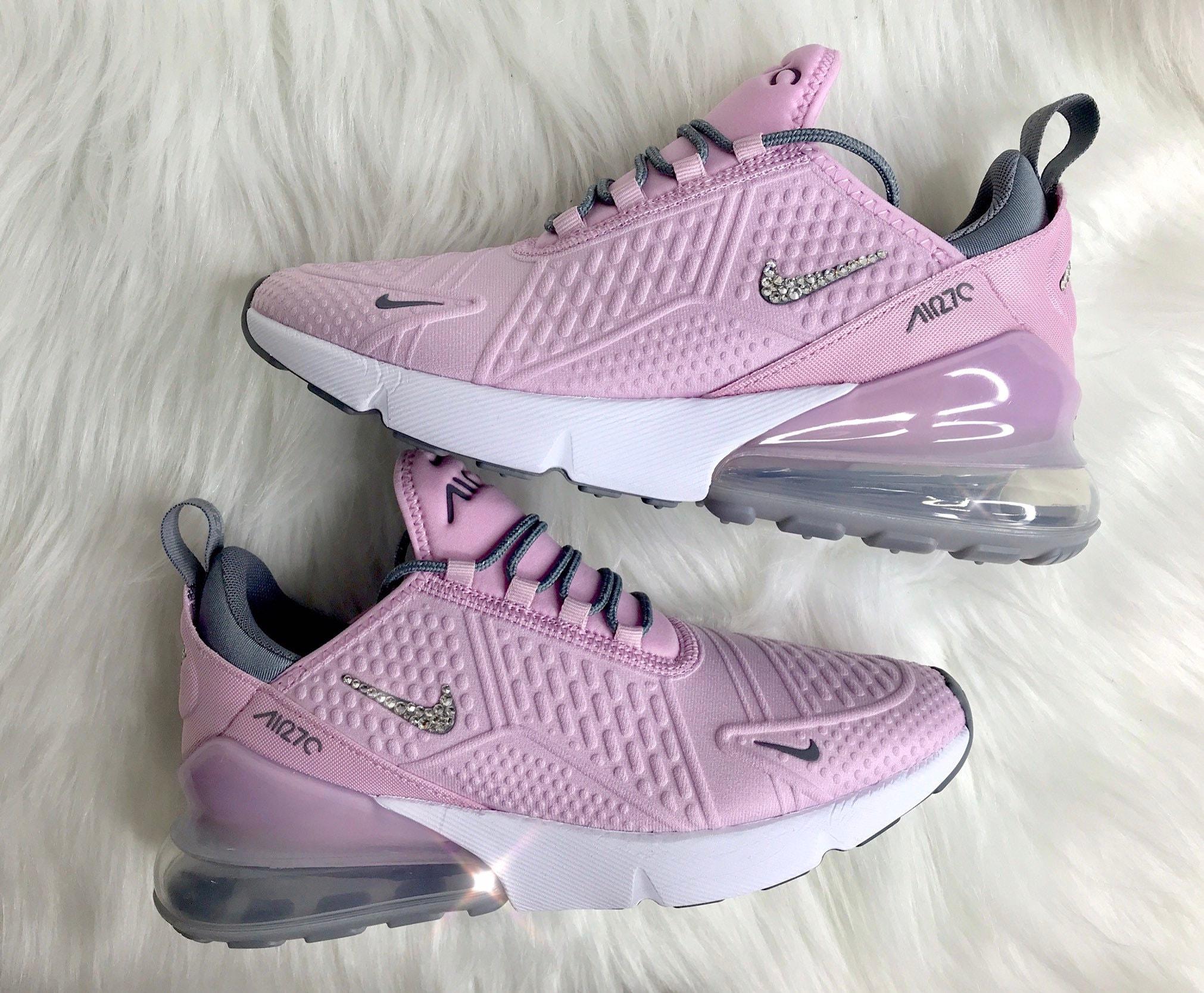 Swarovski Pink Nike Air Max 270 Bling Women s Girl s  783fbbbb36