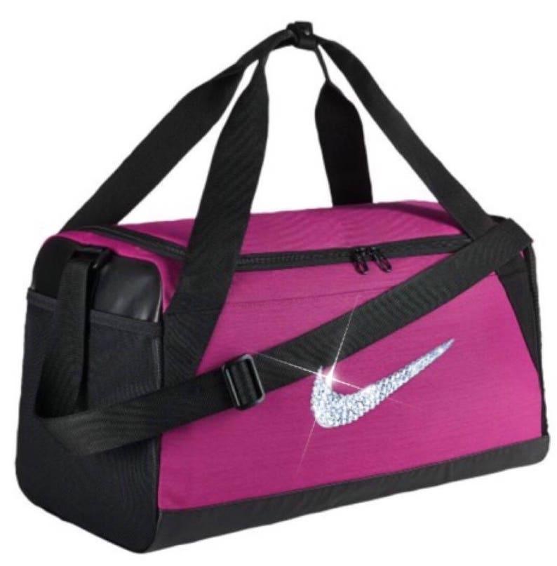 be2164cb18c3 Swarovski Crystal Custom Bling Nike Brasilia Training Duffel