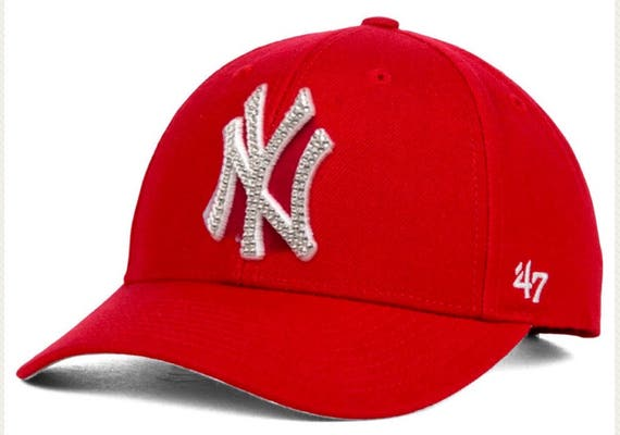 9ca29dfdc1c Bling New York Yankees Custom Crystallized Red Hat Hand Made With Swarovski  Crystals