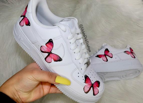 Nike Air Force One Pink Butterflies