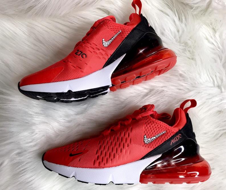 Swarovski Red Nike Air Max 270 Bling Women s Custom  67c83e299