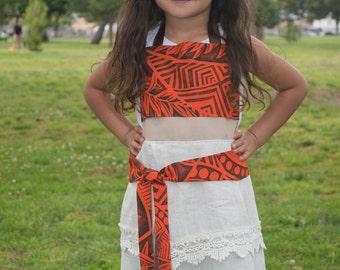 Moana Inspired Dress Up Apron