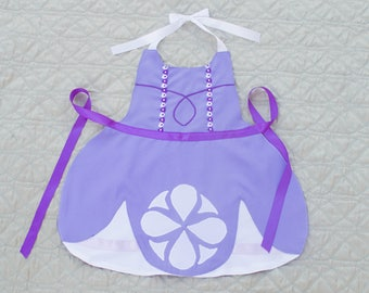 Princess Sofia the First Inspired Dress Up Apron
