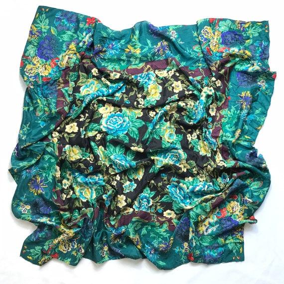 Vintage KENZO silk scarf floral