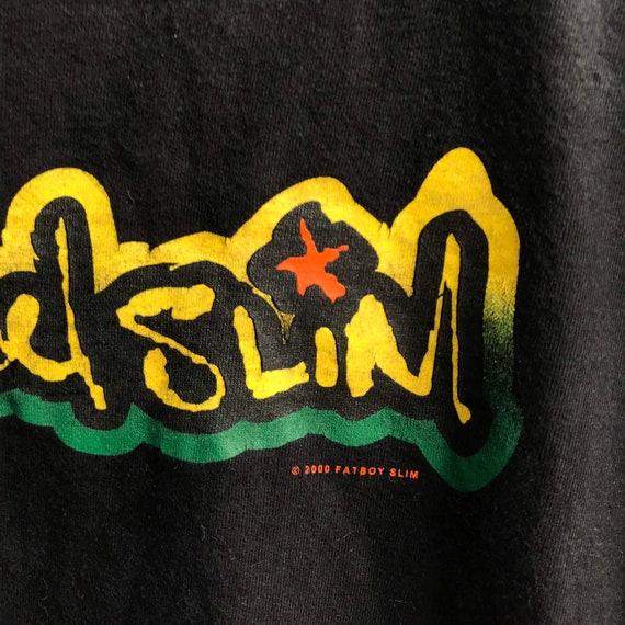 Vintage FATBOY SLIM dj funk rave hiphop rap tee o… - image 3