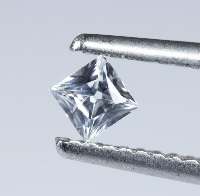 White Sapphire Princess 2.5 x 2.5 mm Real VVS D Brilliant Cut Stones Lot Of 10