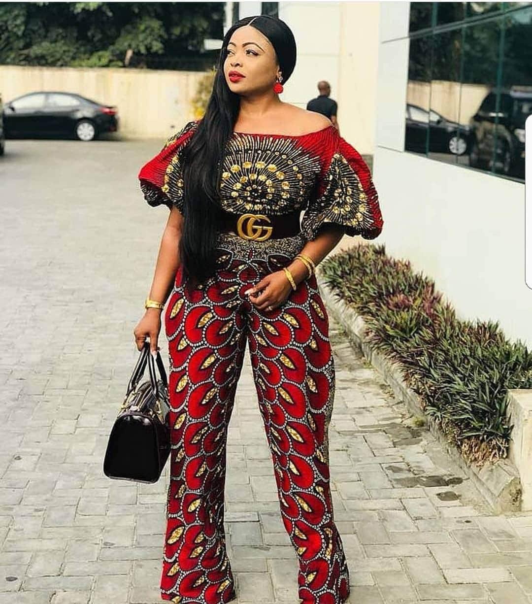Combinaison de pagne africain avec manches ballon vêtements | Etsy