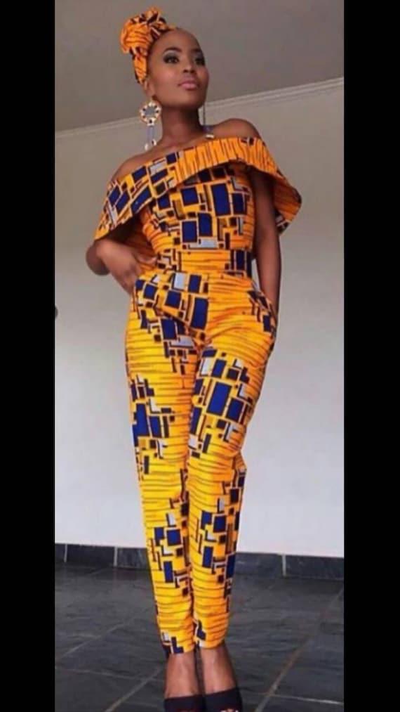 Combinaison de Linda Ankara africain