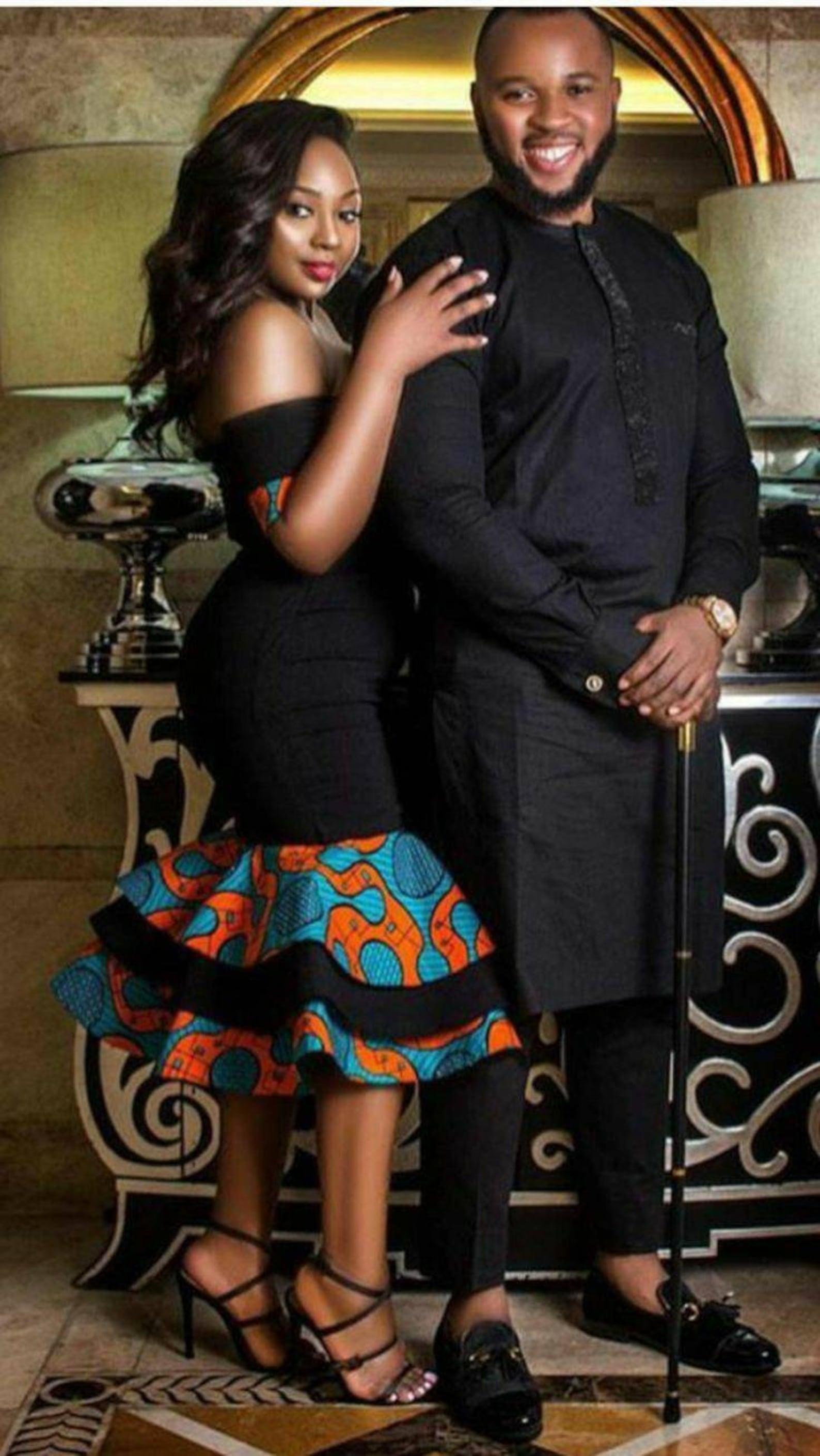 Afrikanische Paare Kleidung afrikanische Paare Outfit