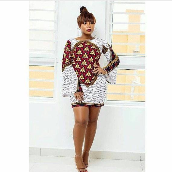dffe66c8315 African print mini dress// Ankara dress, mini dress, women's clothing,  African dress, above the knee dress, white Ankara dress,