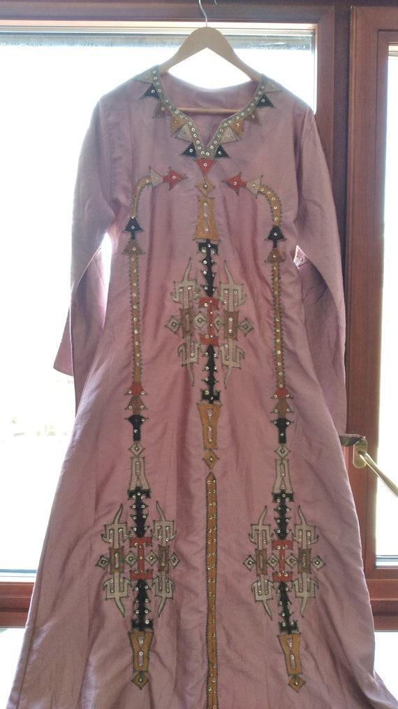 Gallabia - Long Gallabia - Vintage Pink -boho maxi