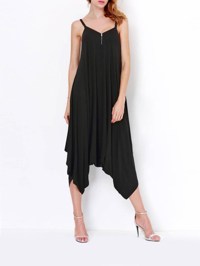 f793e00d08 Black Harem Jumpsuit Plus Size Jumpsuit Deep V Jumpsuit