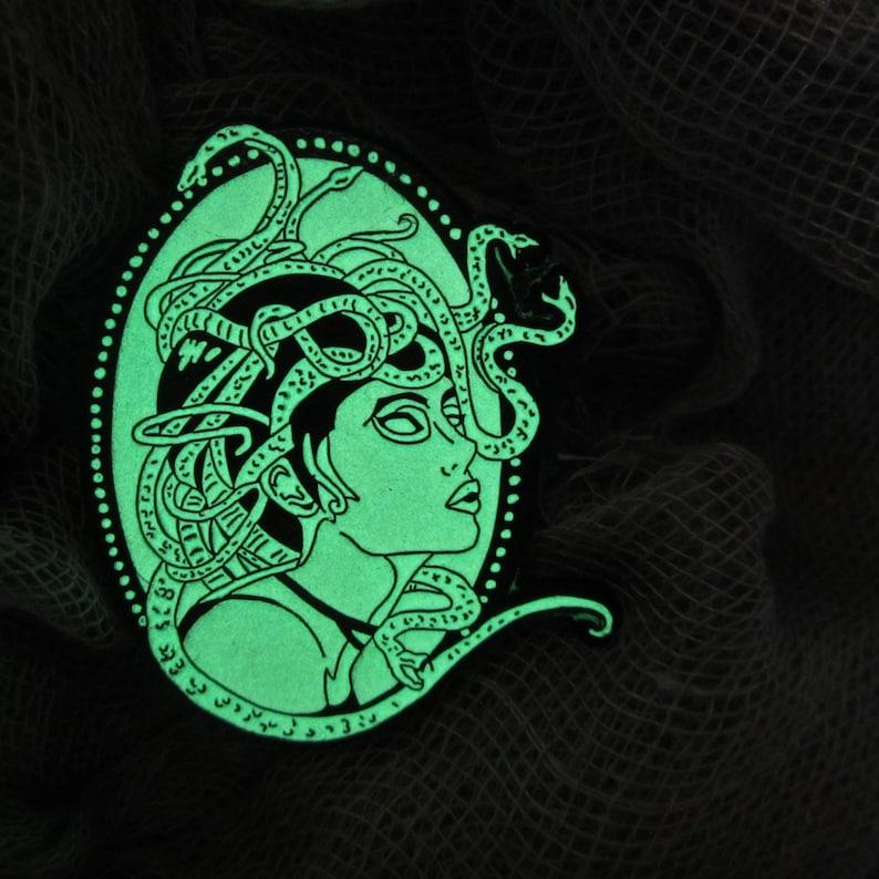1a1a6390e3 SALE Medusa Cameo Soft Enamel Pin Full Glow Halloween Pinbadge