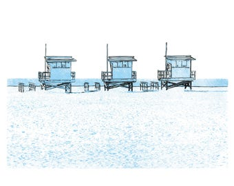 Venice Beach | Los Angeles | illustration | wall art | print | poster | giclée