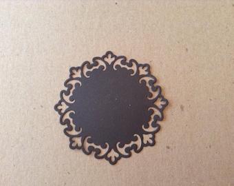 Fancy Trim Circle (3) die cut embellishment