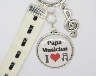 porte clés personnalisable pour un papa , un papi, un frère, un copain ....  musicien  fête des pères, anniversaire. fa8a7d5131f