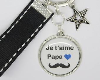 porte clés personnalisable pour un papa , un papi, un frère, un copain ....  papa je t aime  fête des pères, anniversaire. 5c6fbc07100