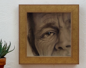 """Close-Up Chet Baker (from the series """"Little Wood"""") original work acrylic on wood. Close-Up Chet Baker"""