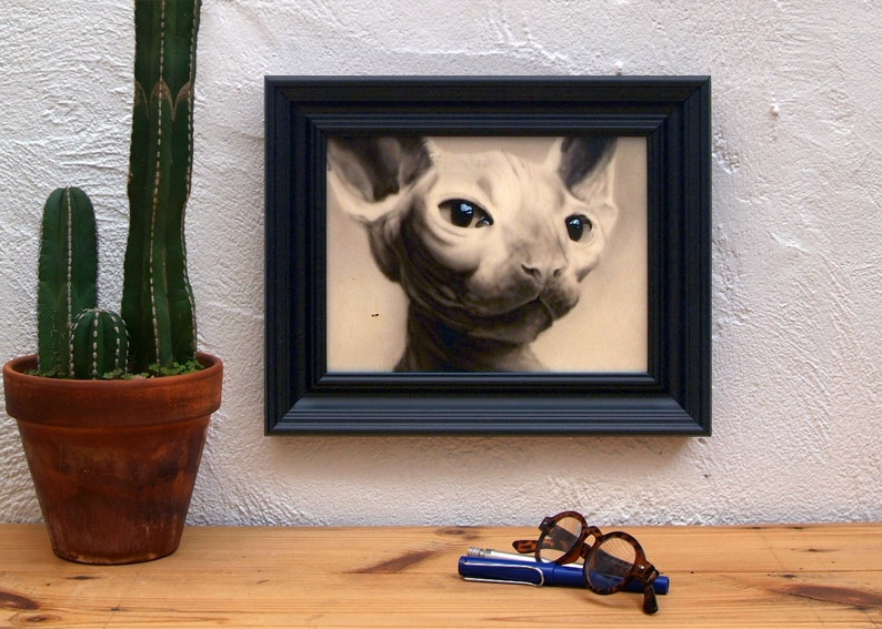 Gift for cat lovers. Original Painting of cat portrait. image 0